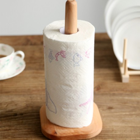 Kitchen Towel Wooden Stand