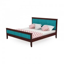 KING SIZE BED WOODEN WITH PADDED HEAD AND FOOT SIDES
