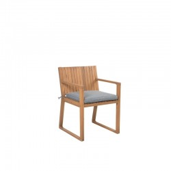 PICASSENT CAFE OUTDOOR CHAIR PURE SOLID WOOD WITH ARM REST