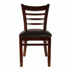 SOLLANA DARK BROWN CAFE CHAIR PURE SOLID WOOD