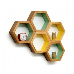 TORROJA HONEYCOMB HEXAGON WALL SHELF