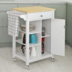 GLORIO KITCHEN SERVING/TEA STORAGE TROLLEY