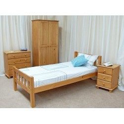 Single Bed with side table and chester drawer